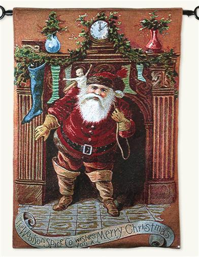 WOOLSON SPICE CO. HOLIDAY TAPESTRY