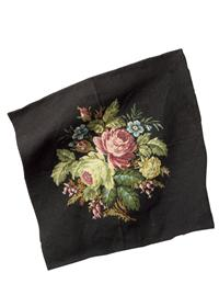 BELGIAN BOUQUET CHAIR SEAT TAPESTRY
