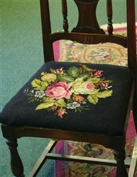 Tapestry Chair Upholstery Fabric (Black)