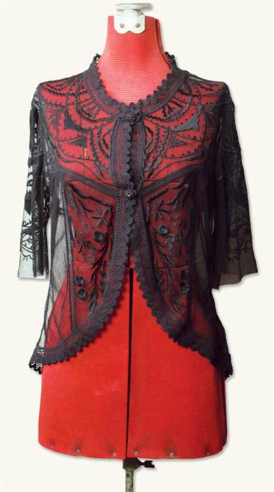 Victorian Style Blouses, Tops, Jackets Black Magic Blouse $49.99 AT vintagedancer.com