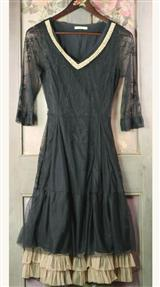 SMOKY PEARLED BALLERINA  DRESS