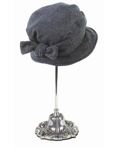 Victorian Style Hats, Bonnets, Caps, Patterns Jane Eyre Hat Charcoal $49.95 AT vintagedancer.com