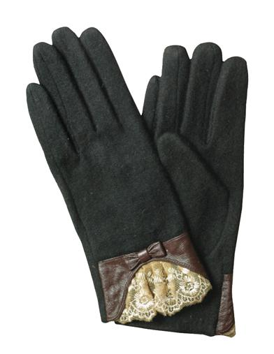 Vintage Style Gloves- Long, Wrist, Evening, Day, Leather, Lace Black Cashmere  Kidskin Gloves SmallMedium $19.95 AT vintagedancer.com
