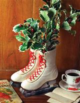 WHITE OLD SKATES PLANTER
