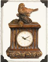 TIME AND BIRDS FLY GILDED CLOCK