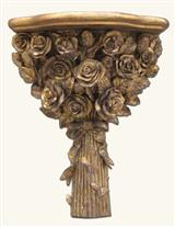 GOLDLEAF ROSES SCONCE