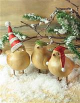 WINTER BIRDS (SET OF 3)