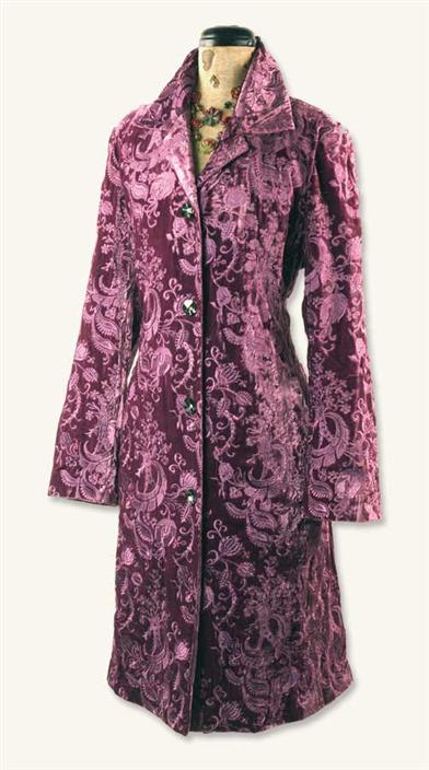PURPLE EMB COAT