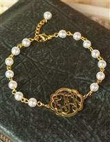 PEARLINE MONOGRAM BRACELET