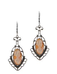 Cameo Lavalier Earrings