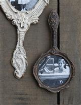 LOOKING GLASS WALL FRAME (PEWTER)