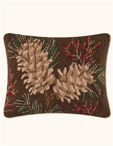 PINEY WOODS HOOKED PILLOW