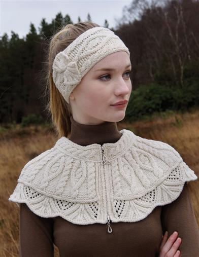 Victorian Style Blouses, Tops, Jackets Aran Collar $39.99 AT vintagedancer.com