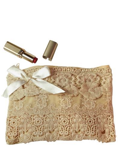 1950s Handbags, Purses, and Evening Bag Styles Lavish Lace Pouch $29.95 AT vintagedancer.com