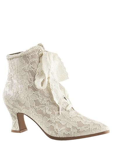 Steampunk Wedding Dresses | Vintage, Victorian, Black Victorian Lace Boots $79.95 AT vintagedancer.com