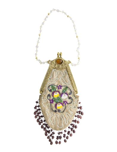 1930s Handbags and Purses Fashion Pansy Beaded Purse $39.95 AT vintagedancer.com