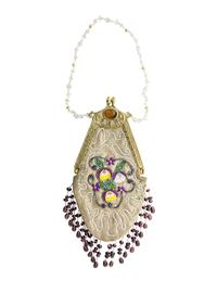 Pansy Beaded Purse