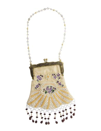 1930s Handbags and Purses Fashion Ivory Beaded Purse $39.95 AT vintagedancer.com