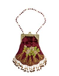 Beautiful Velvet Beaded Bag