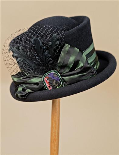 Steampunk Hats | Top Hats | Bowler Louise Green MiladyS Derby Hat $299.95 AT vintagedancer.com