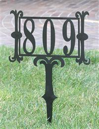 House Number Yard Stake