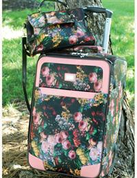 JEWELED BLOOMS LUGGAGE SET (FREE TOTE)