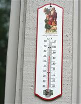 MERCURY FALLING CHRISTMAS THERMOMETER