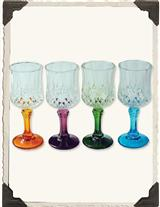 JEWELED CORDIAL SIPPERS (SET OF 4)