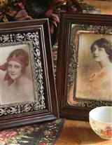 EMBELLISHED WOODEN FRAMES (PAIR)