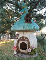 ENCHANTED TOADSTOOL BIRD HOUSE
