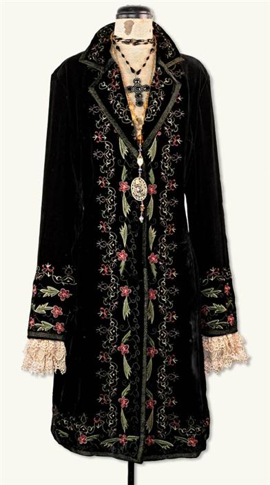 Retro Vintage Style Coats, Jackets, Fur Stoles Renaissance Coat Dress $149.99 AT vintagedancer.com