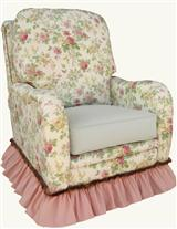 PRETTY PRINTEMPS RECLINER GLIDER ROCKER