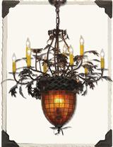 GREENBRIER OAK CHANDELIER