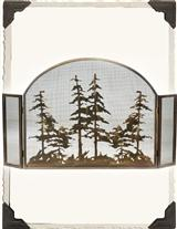 SINGING PINES FIREPLACE SCREEN