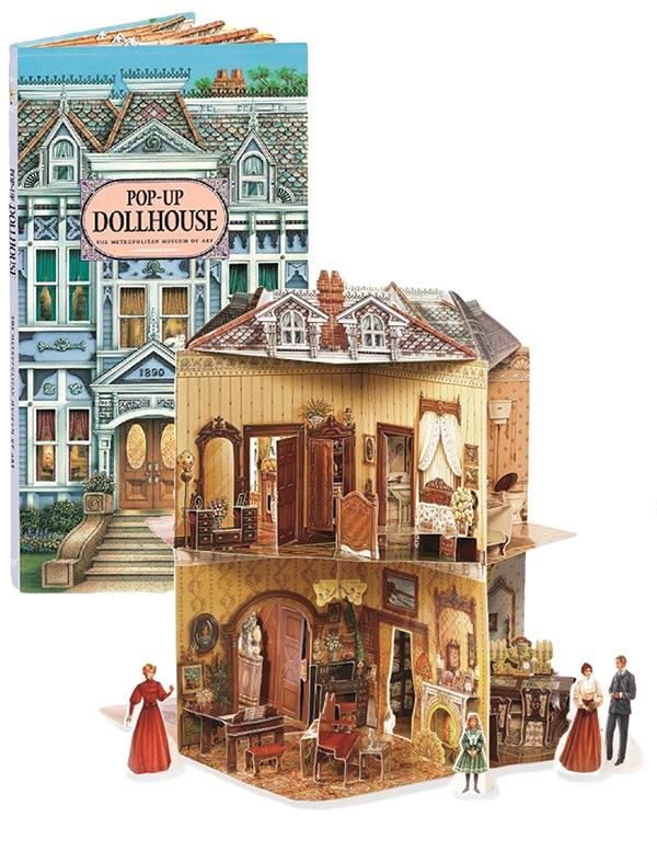 pop up dollhouse book three dimensional victorian dollhouse. Black Bedroom Furniture Sets. Home Design Ideas