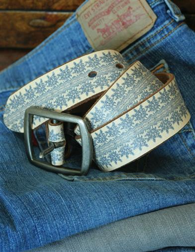 Indigo Lace Belt