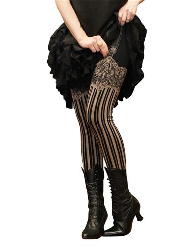 Steampunk Tights  & Socks Jezebel Leggings $39.95 AT vintagedancer.com