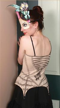 FAUX CORSET WITH GARTER CLIPS