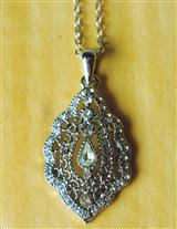 TEARS OF JOY SWAROVSKI LAVOLIER NECKLACE