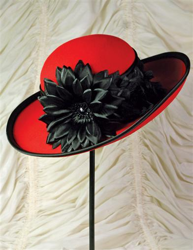 Edwardian Style Hats, Titanic Hats, Derby Hats Cheery Lampshade Hat $79.99 AT vintagedancer.com