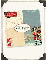 NOSTALGIC HOLIDAY STICKY MEMOS