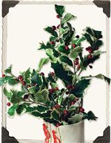 SILK HOLLY SPRIG