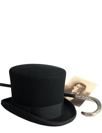 1920s Mens Clothing MenS Black Top Hat $179.95 AT vintagedancer.com