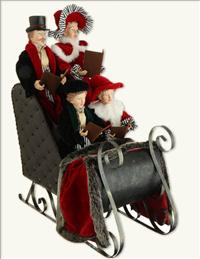 CAROLERS IN SLEIGH