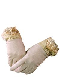IVORY CASHMERE GLOVES