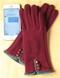 Cabernet Touchscreen Gloves