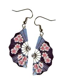 FAN DANGLES CHERRY BLOSSOM EARRINGS