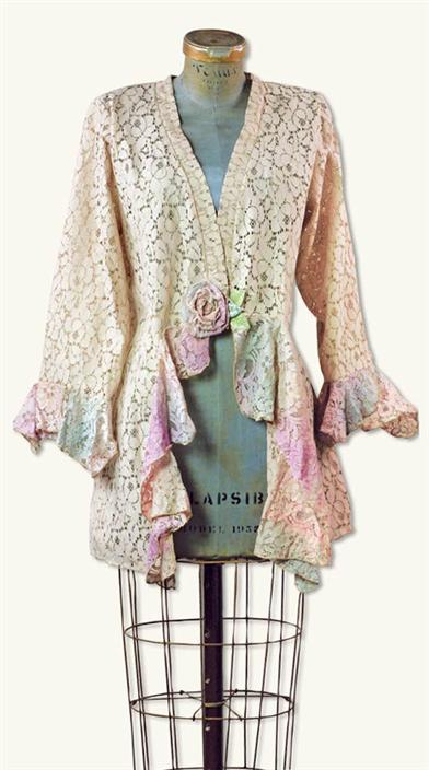 Victorian Style Blouses, Tops, Jackets Mirabella Jacket $99.99 AT vintagedancer.com