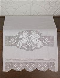 VICTORIAN DRAWN-WORK GUEST TOWEL (SMALL)