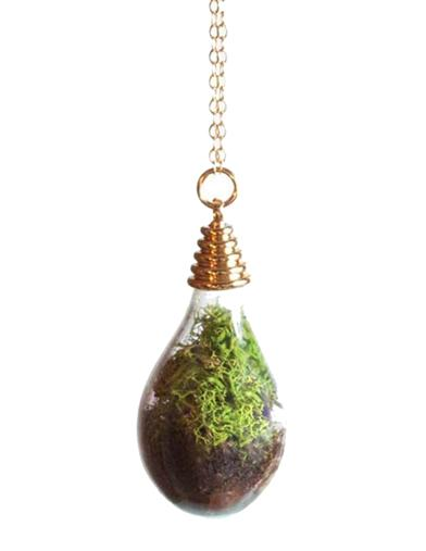 Victorian Costume Jewelry to Wear with Your Dress Teardrop Terrarium Necklace $24.99 AT vintagedancer.com